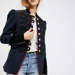 Free People Seamed & Structured Military Coat M
